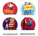 people win big money in... | Shutterstock .eps vector #1803043453