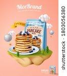 fluffy pancake ad template ... | Shutterstock .eps vector #1803056380