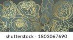 golden rose flower art deco... | Shutterstock .eps vector #1803067690