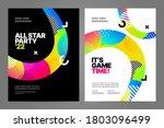poster design with dynamic... | Shutterstock .eps vector #1803096499