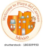 stamp welcome  to playa del... | Shutterstock .eps vector #180309950