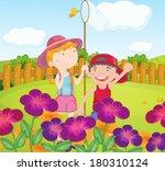 illustration of the kids... | Shutterstock .eps vector #180310124