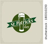 happy st. patrick's day poster  | Shutterstock . vector #180310250