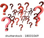 too many questions | Shutterstock . vector #18031069