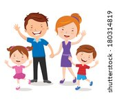 family portrait. happy family... | Shutterstock .eps vector #180314819