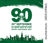 saudi national day. 90. 23rd... | Shutterstock .eps vector #1803149863
