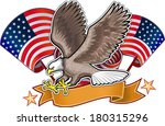 American Eagle And Flag