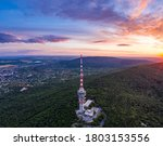 Tv Tower In Pecs Hungary With...