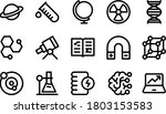 science   bold line icons... | Shutterstock .eps vector #1803153583