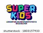 playful style font design ...   Shutterstock .eps vector #1803157933