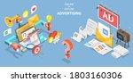 3d isometric flat conceptual... | Shutterstock . vector #1803160306