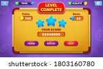 level complete menu pop up with ...