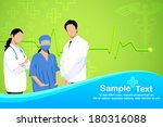 easy to edit vector illustration of team of doctor standing with stethoscope