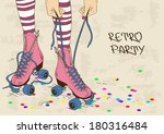 illustration with female legs... | Shutterstock .eps vector #180316484