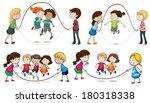 illustration of the children... | Shutterstock . vector #180318338