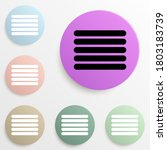 bands badge color set. simple...