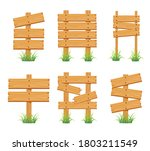 wood sign collection set... | Shutterstock .eps vector #1803211549