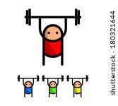 weightlifting   Shutterstock .eps vector #180321644