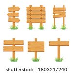 wood sign collection set... | Shutterstock .eps vector #1803217240