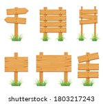 wood sign collection set... | Shutterstock .eps vector #1803217243