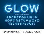 led light 3d alphabet  extra... | Shutterstock .eps vector #1803227236