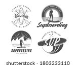 sup boarding logos. stand up... | Shutterstock .eps vector #1803233110