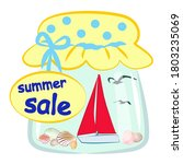 vector isolated unusual summer... | Shutterstock .eps vector #1803235069