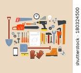 vector flat design modern... | Shutterstock .eps vector #180324500