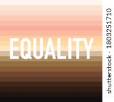 equality on a striped skin tone ... | Shutterstock .eps vector #1803251710