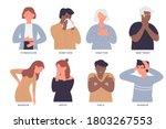 sick people  bad health vector...   Shutterstock .eps vector #1803267553