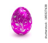 Purple Easter Egg With Metalli...