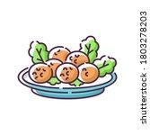 falafel rgb color icon. deep...   Shutterstock .eps vector #1803278203