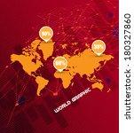 world map  | Shutterstock .eps vector #180327860