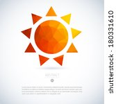 summer sun of triangles... | Shutterstock .eps vector #180331610