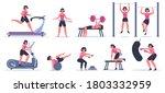 women at gym. female sport... | Shutterstock .eps vector #1803332959
