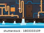 drainage pipes system....   Shutterstock .eps vector #1803333109