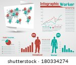 infographic worker modern style ... | Shutterstock .eps vector #180334274