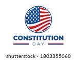 constitution day isolated logo...   Shutterstock .eps vector #1803355060