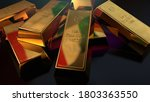 gold bars italy. pile of ingots ...   Shutterstock . vector #1803363550