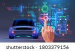 future automotive smart... | Shutterstock .eps vector #1803379156