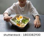 Close Up Food Eggs  Salad  A...
