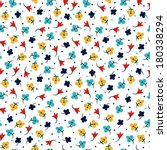 small colorful vector flowers... | Shutterstock .eps vector #180338294