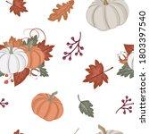 autumn seamless pattern  fall... | Shutterstock .eps vector #1803397540