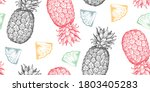 vector seamless pattern with... | Shutterstock .eps vector #1803405283