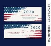 presidential election usa 2020... | Shutterstock .eps vector #1803414259