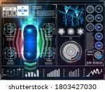 set car. driverless car. self...   Shutterstock .eps vector #1803427030