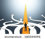 concept of confused business... | Shutterstock . vector #180344096