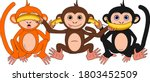 the three wise monkeys with... | Shutterstock .eps vector #1803452509
