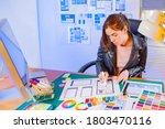 ui ux designer's office. the...