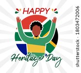 happy heritage day south africa ...   Shutterstock .eps vector #1803472006